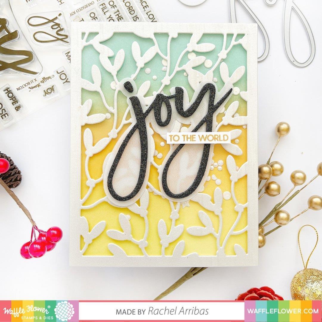 Oversized Joy, Waffle Flower Stamp & Die Combo -