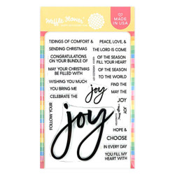 Oversized Joy, Waffle Flower Clear Stamps -