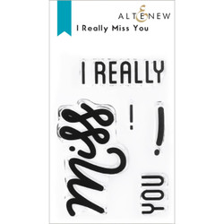 I Really Miss You, Altenew Clear Stamps -