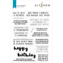 Just a Number, Altenew Clear Stamps -