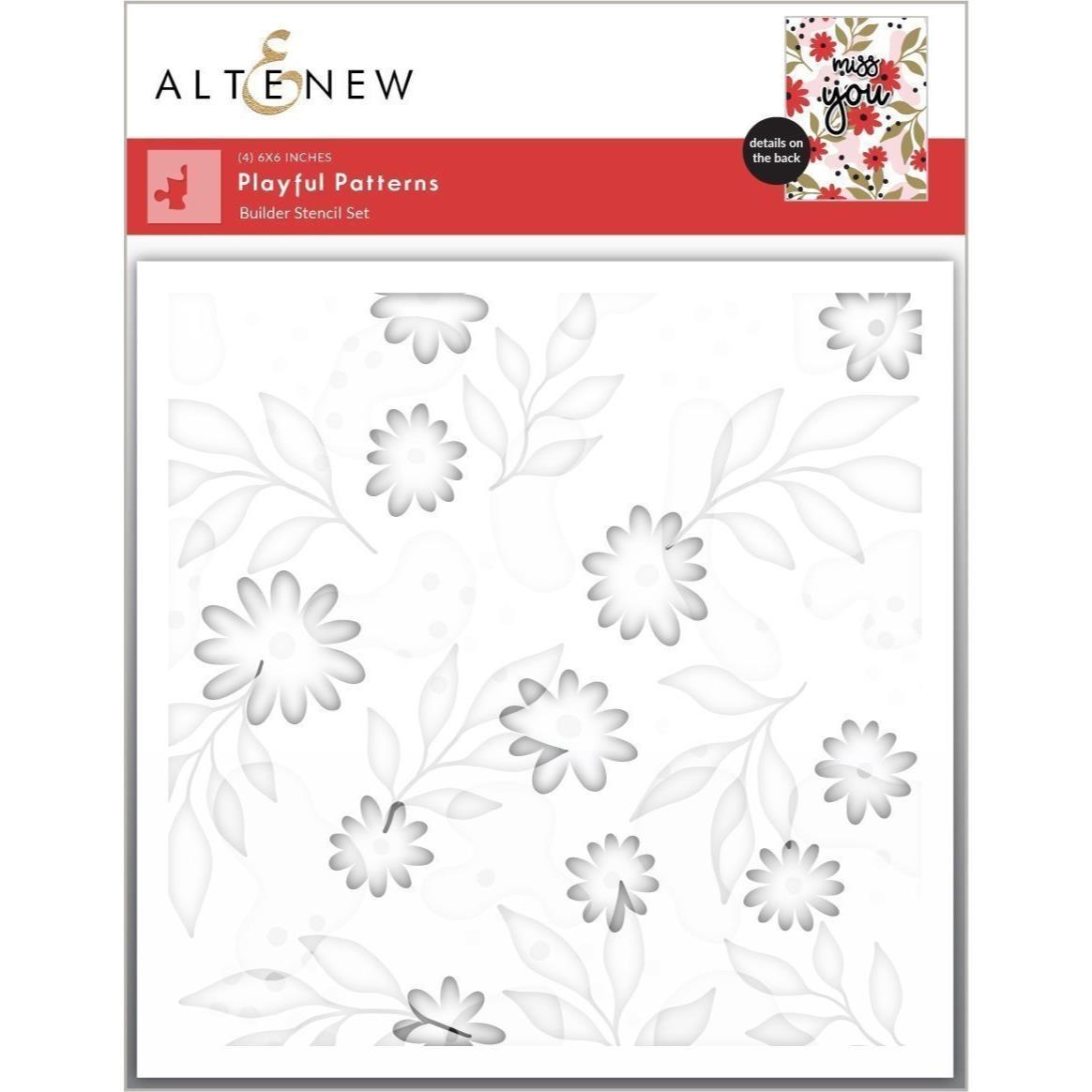 Playful Patterns, Altenew Stencils -