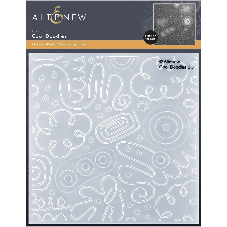 Cool Doodles 3D, Altenew Embossing Folders -