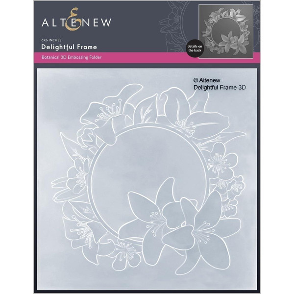 Delightful Frame 3D, Altenew Embossing Folders -