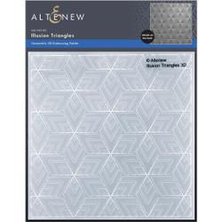 Illusion Triangles 3D, Altenew Embossing Folders -