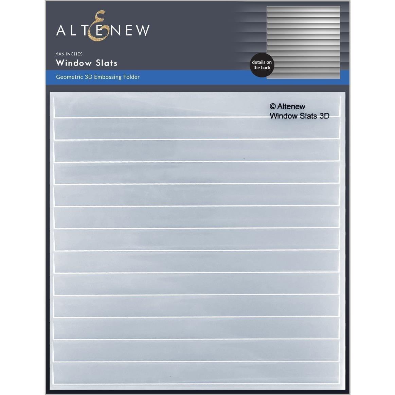 Window Slats 3D, Altenew Embossing Folders -