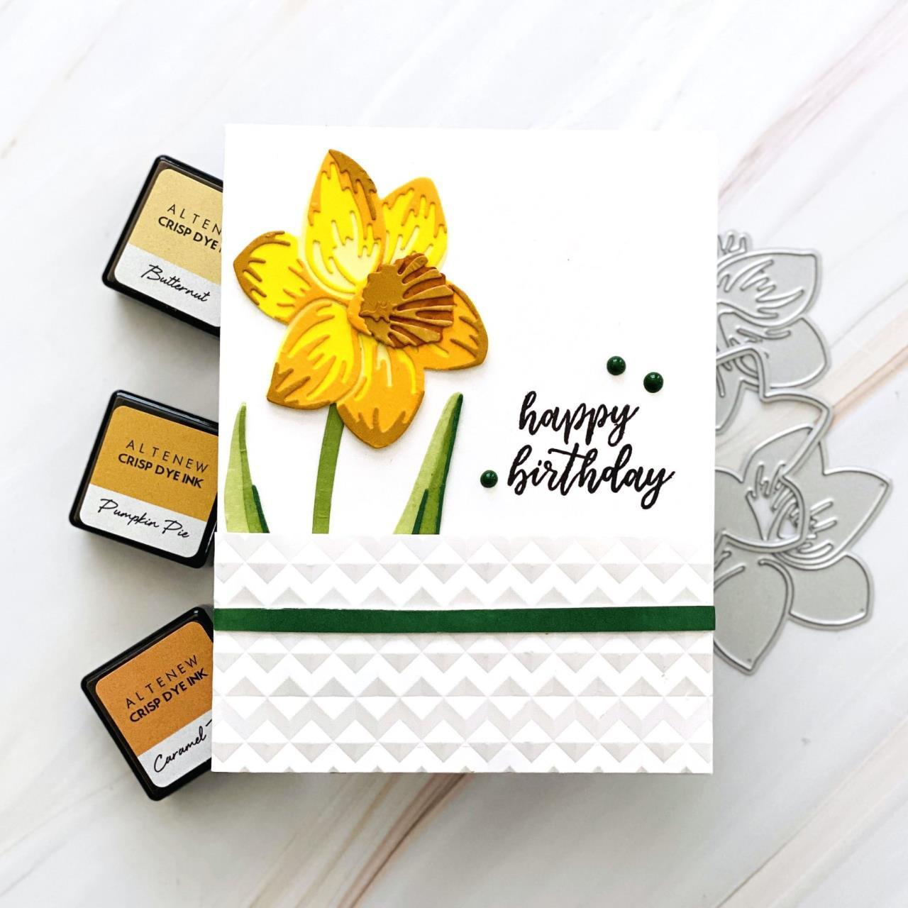 Craft-A-Flower: Daffodil, Altenew Dies -