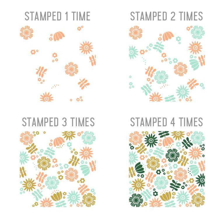 Flower Garden Turnabout, Concord & 9th Clear Stamps -