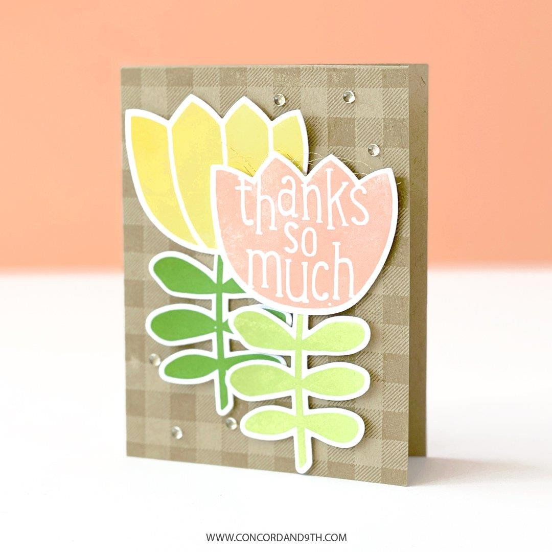 Flower Shaker Shapes, Concord & 9th Clear Stamps -