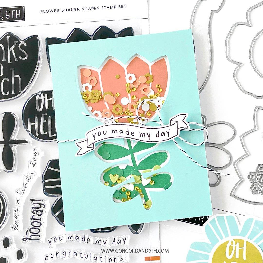 Flower Shaker Shapes, Concord & 9th Dies -