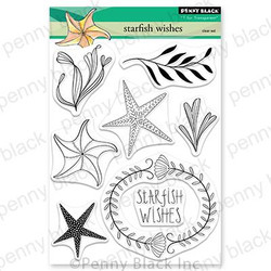 Starfish Wishes, Penny Black Clear Stamps -