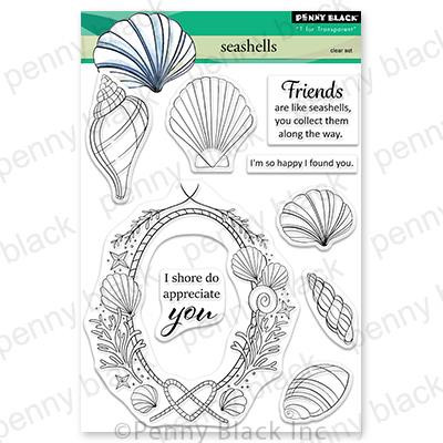 Seashells, Penny Black Clear Stamps -