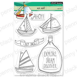 Set Sail, Penny Black Clear Stamps -