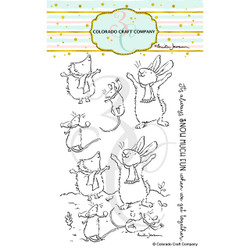 Get Together by Anita Jeram, Colorado Craft Company Clear Stamps -