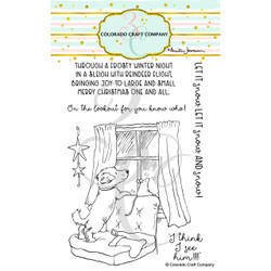 On the Lookout by Anita Jeram, Colorado Craft Company Clear Stamps -