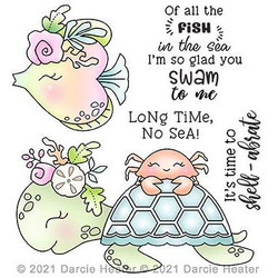 Shell-abrate, Darcie's Clear Stamps -