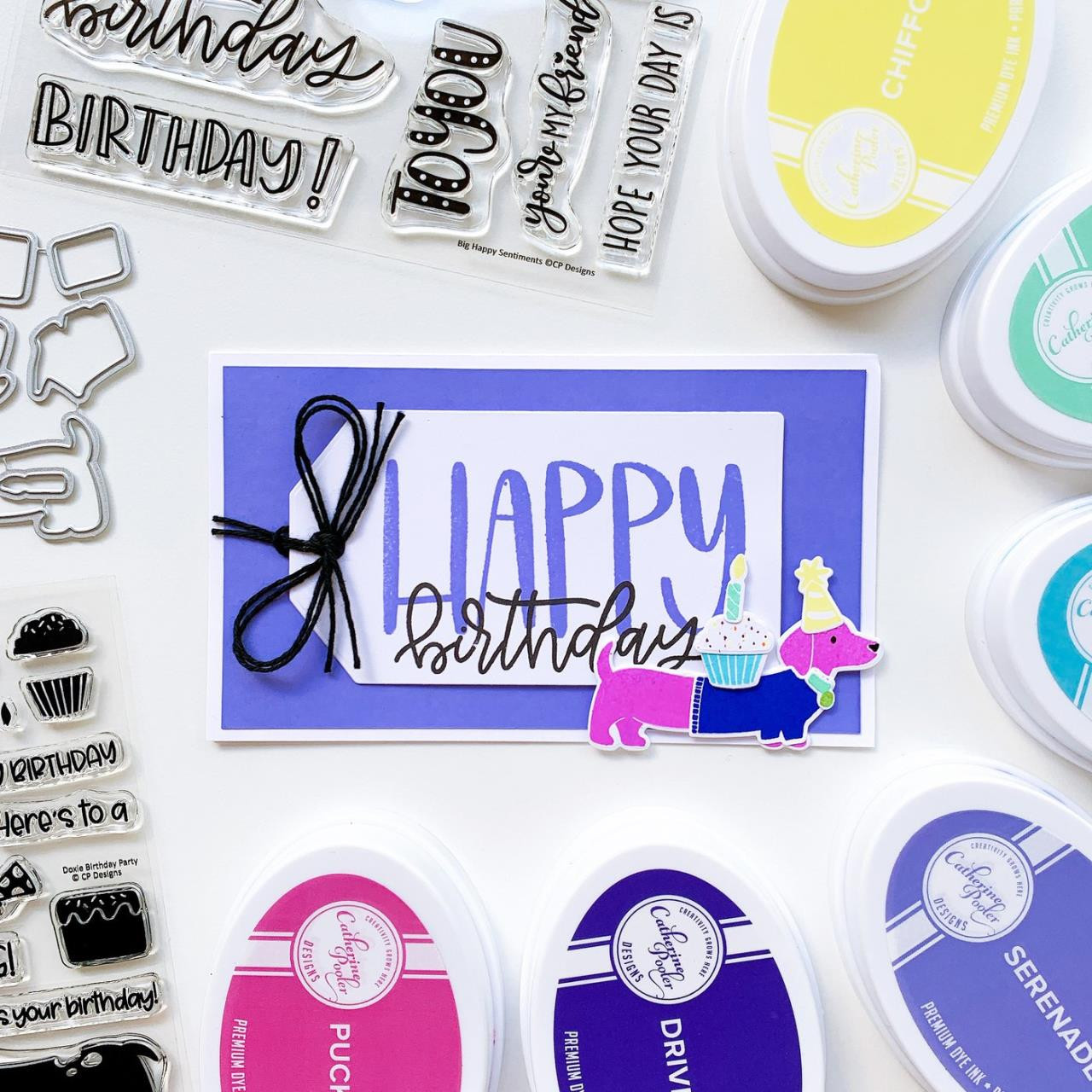Big Happy Sentiments, Catherine Pooler Clear Stamps -