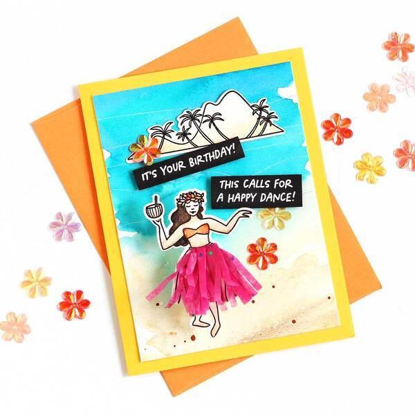 Aloha by Julie Ebersole, Summer of Stamping Designer Dies -