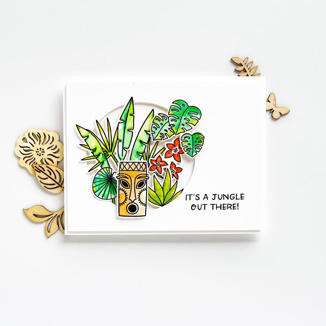 It's a Jungle by Julie Ebersole, Summer of Stamping Designer Dies -