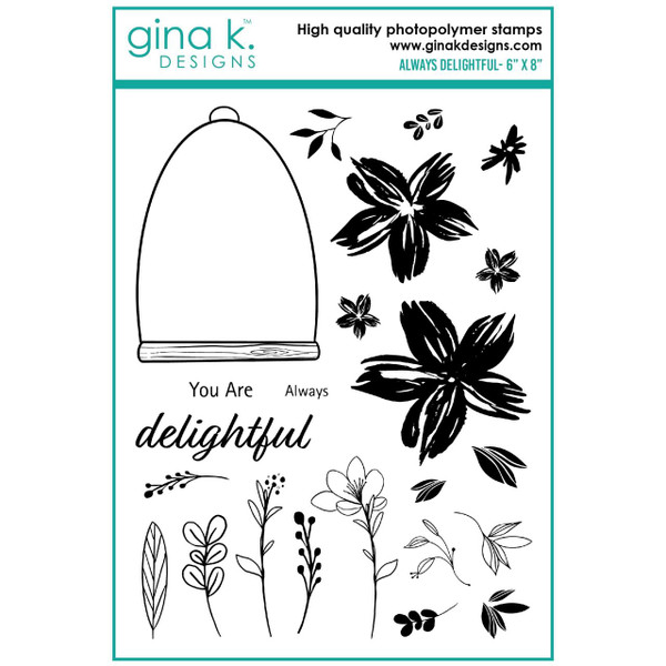 Always Delightful, Gina K Designs Clear Stamps -