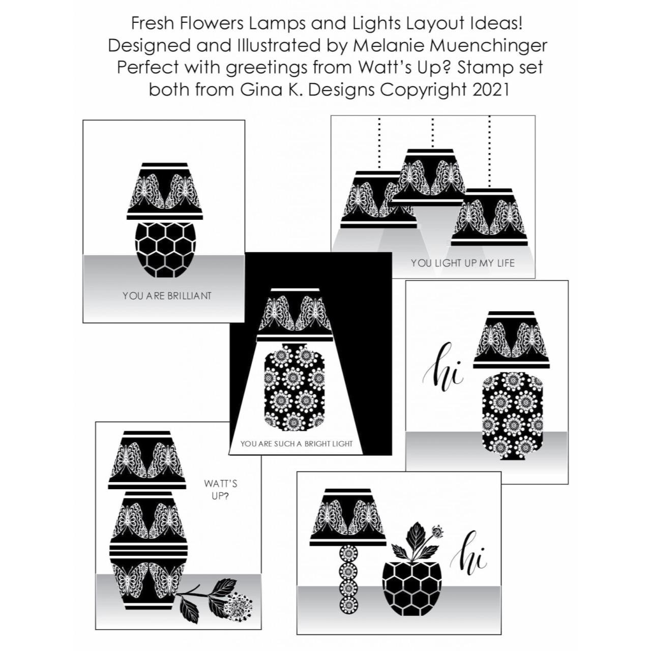 Fresh Flowers, Gina K Designs Clear Stamps -