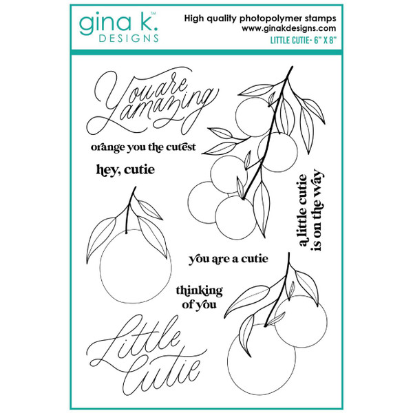 Little Cutie, Gina K Designs Clear Stamps -