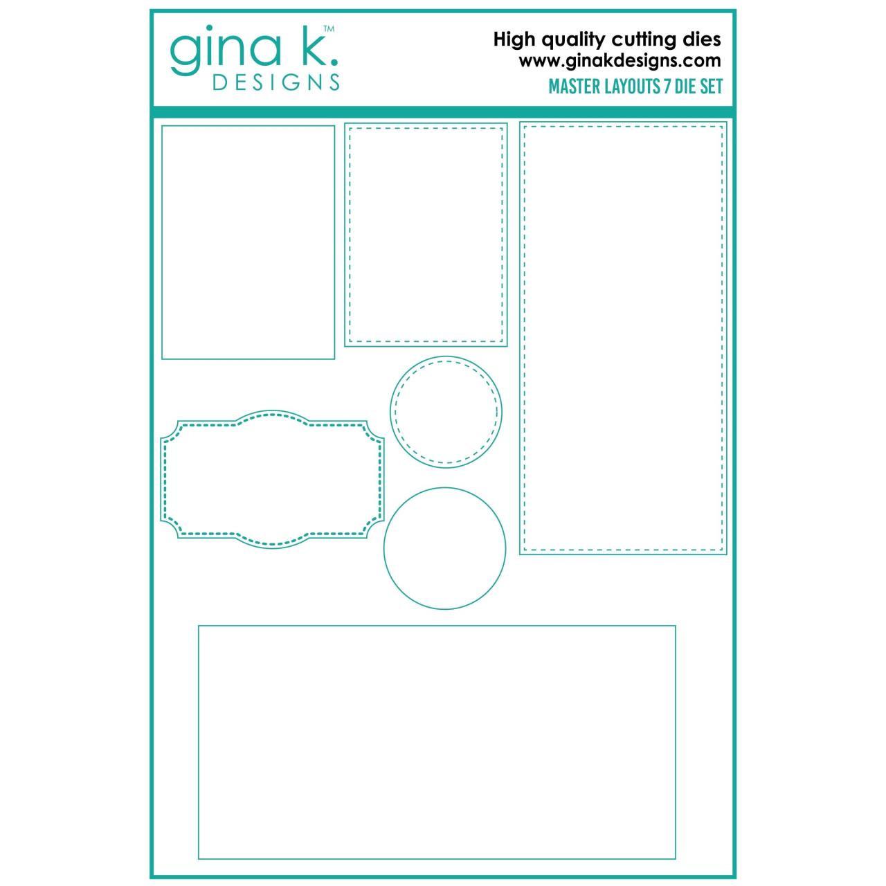 Master Layouts 7, Gina K Designs Dies -