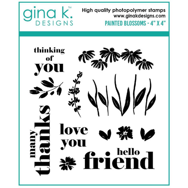 Painted Blossoms, Gina K Designs Clear Stamps -