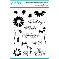Sketched Flowers, Gina K Designs Clear Stamps -