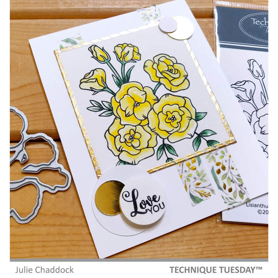 Lisianthus Flower, Technique Tuesday Clear Stamps -