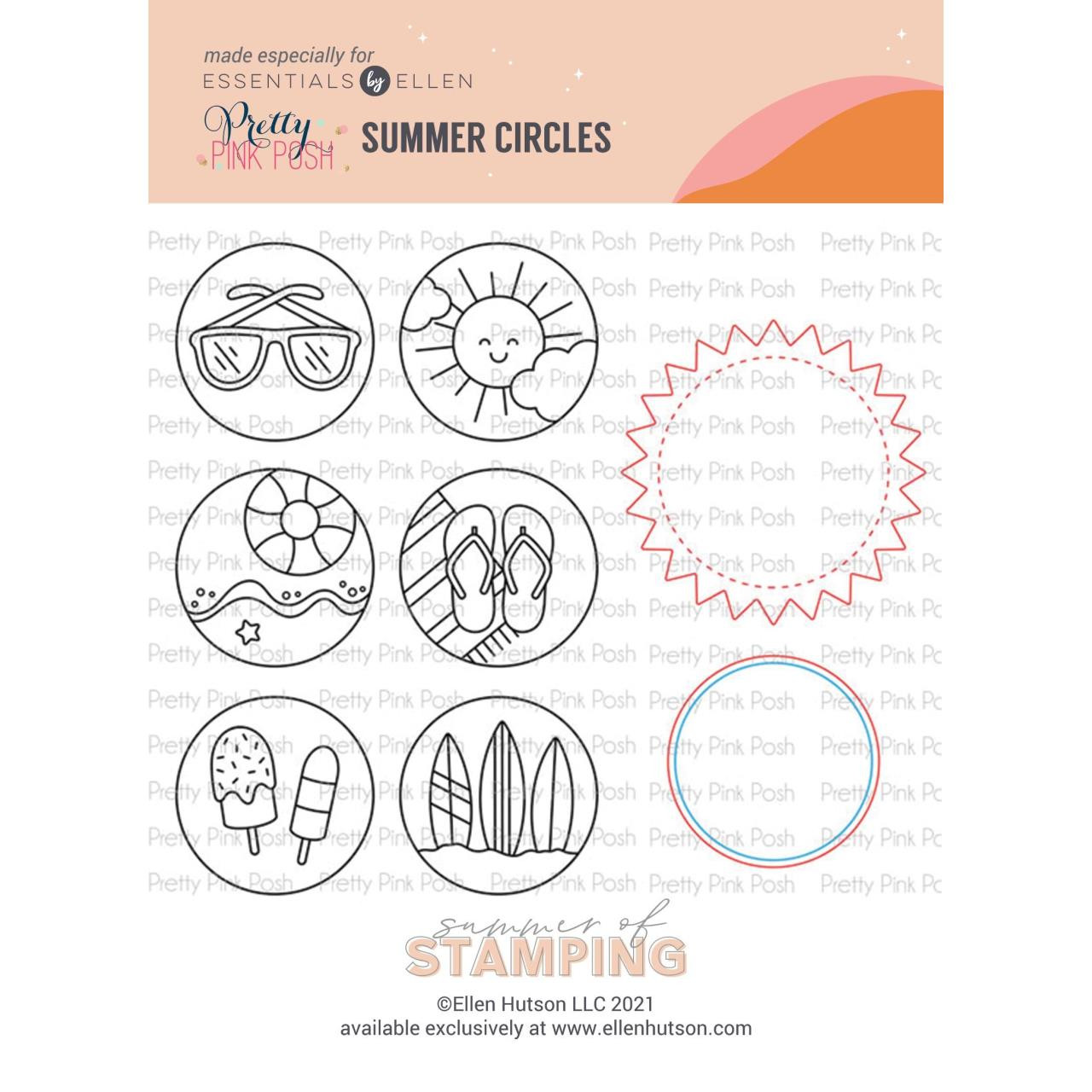 Summer of Stamping Summer Circles Combo by Pretty Pink Posh -