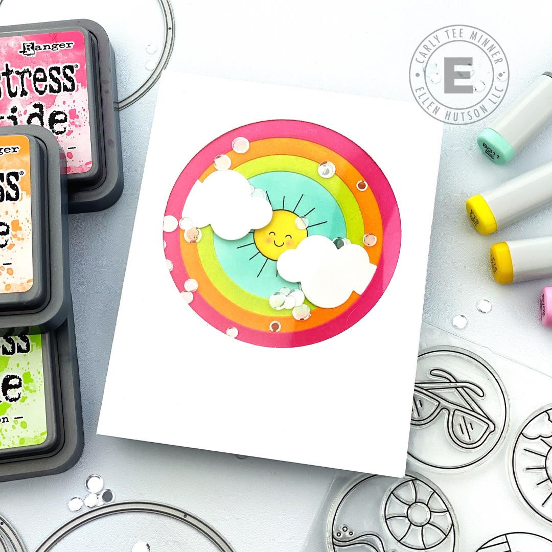 Summer of Stamping Summer Circles Clear Stamps by Pretty Pink Posh -