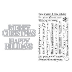 Christmas Holidays, Hero Arts Stamp & Cut -