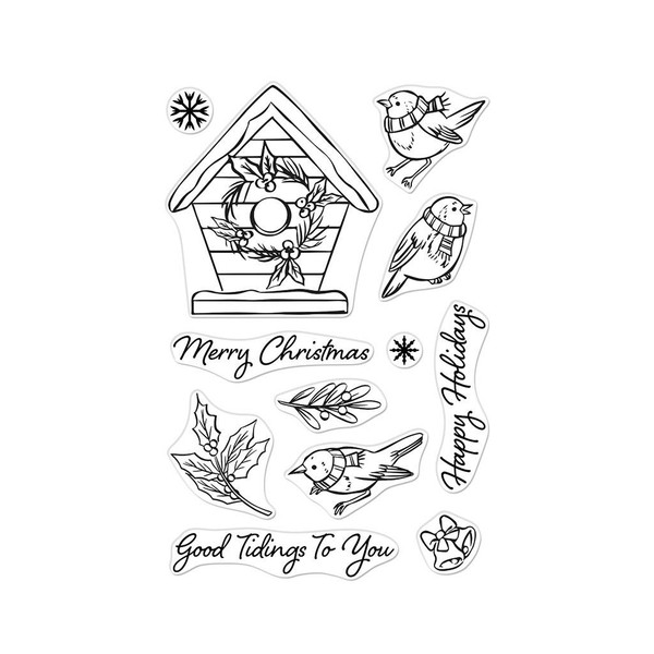 Christmas Robins, Hero Arts Clear Stamps -