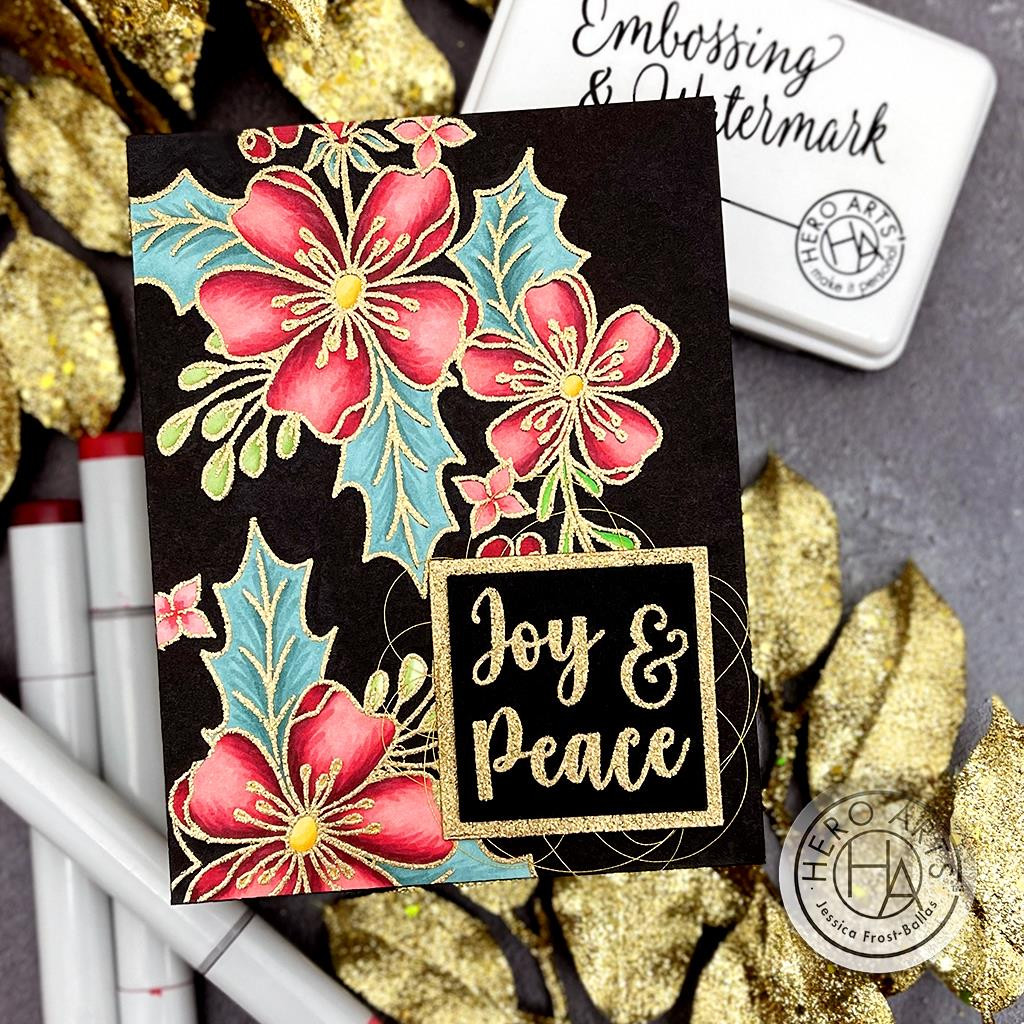 Christmas Rose, Hero Arts Clear Stamps -