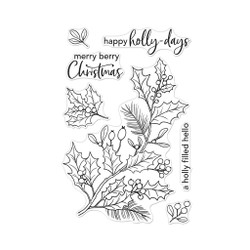 Holly Berries, Hero Arts Clear Stamps -
