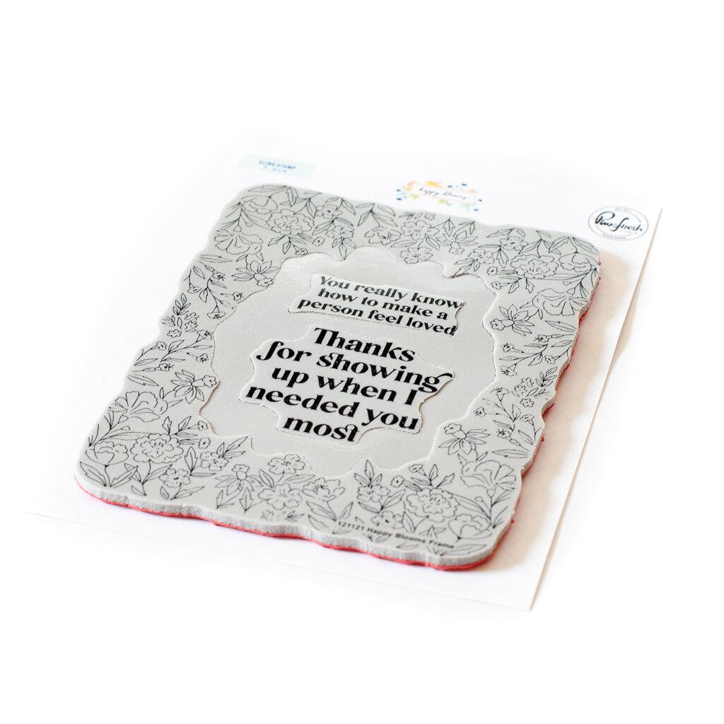 Happy Blooms Frame, Pinkfresh Studio Cling Stamps -