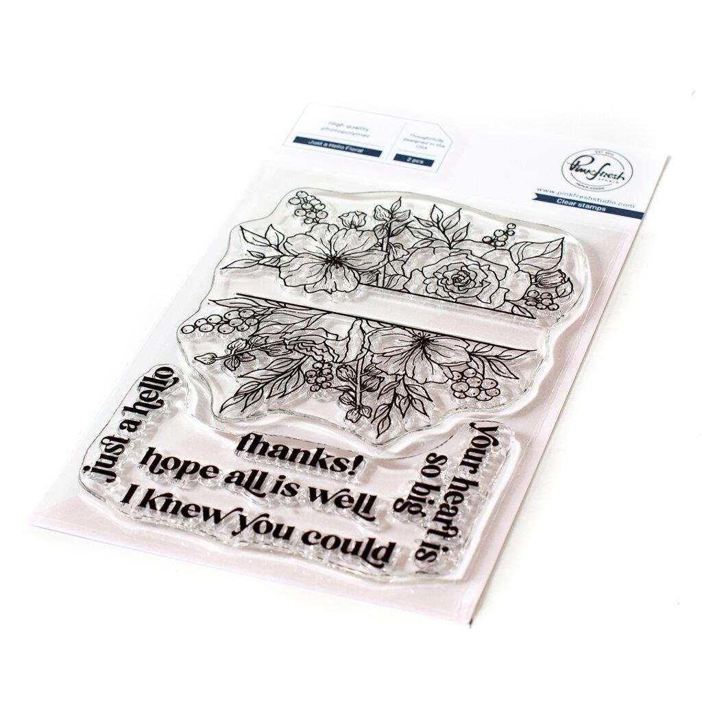 Just a Hello Floral, Pinkfresh Studio Clear Stamps -