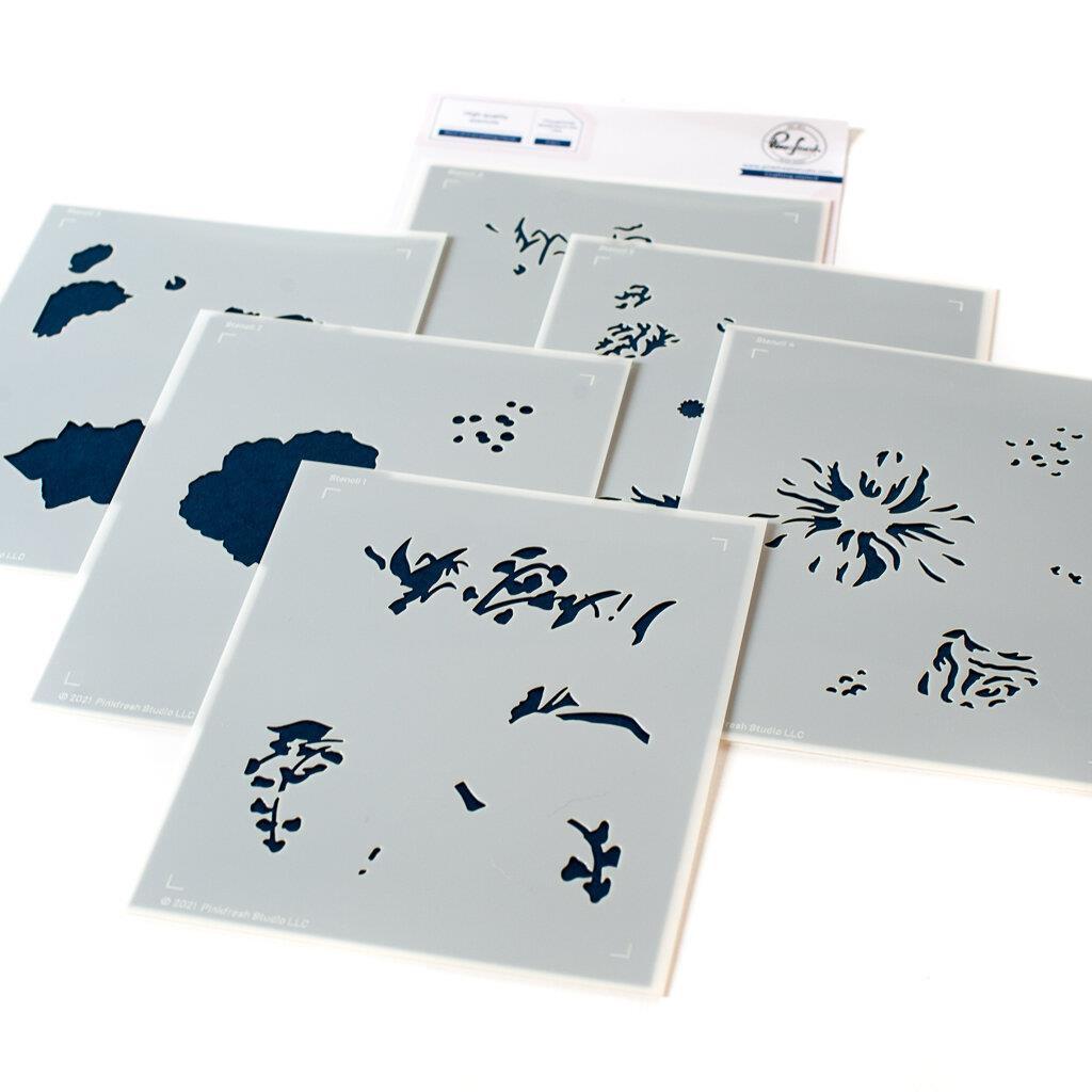 Best of Everything Floral, Pinkfresh Studio Stencils -