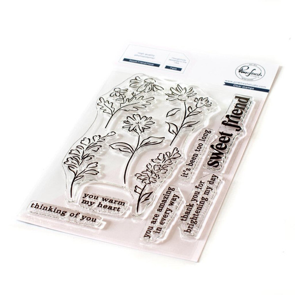 Sweet Friend Floral, Pinkfresh Studio Clear Stamps -
