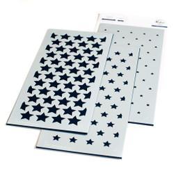 Slimline Stars Builder, Pinkfresh Studio Stencils -