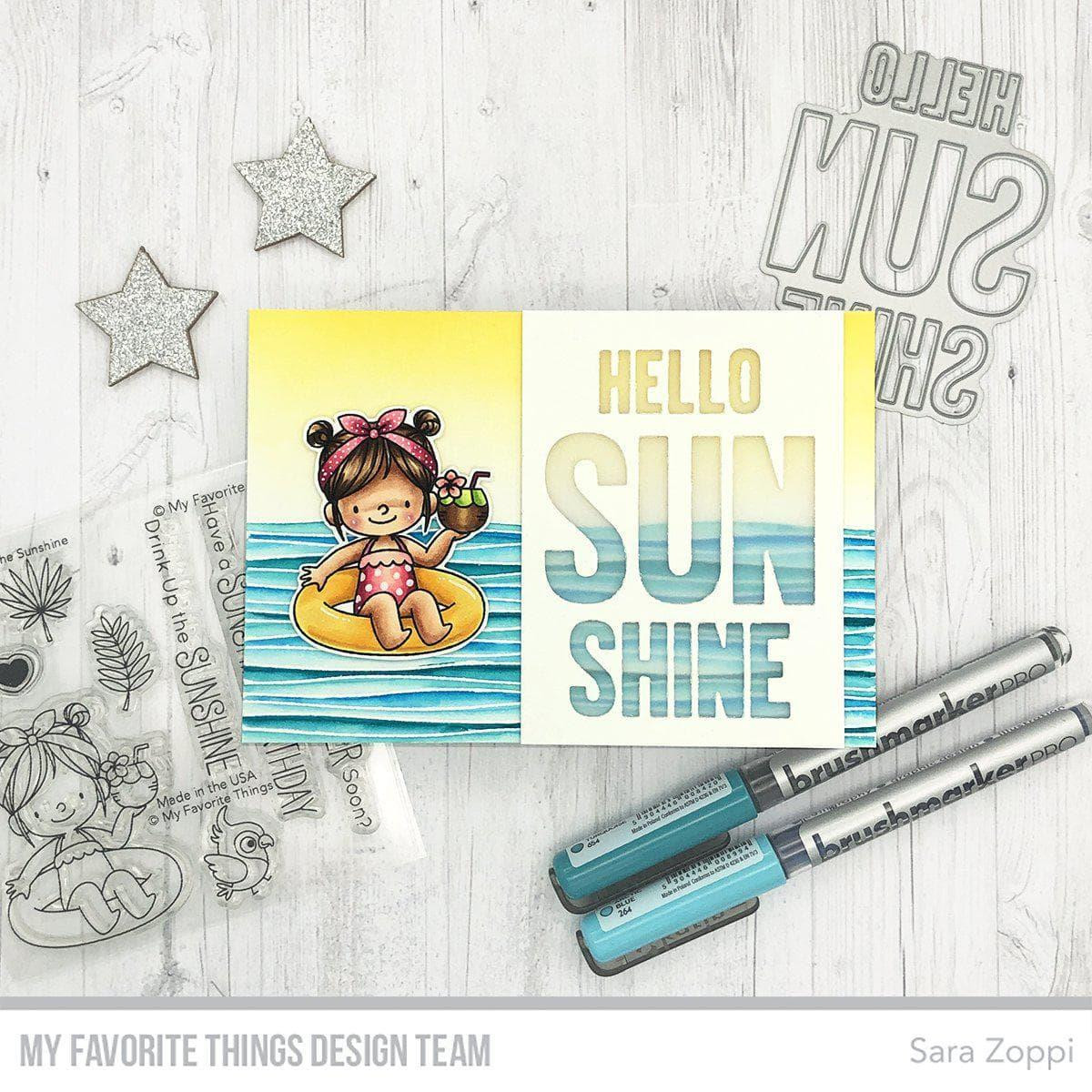 Rippled Background, My Favorite Things Cling Stamps -