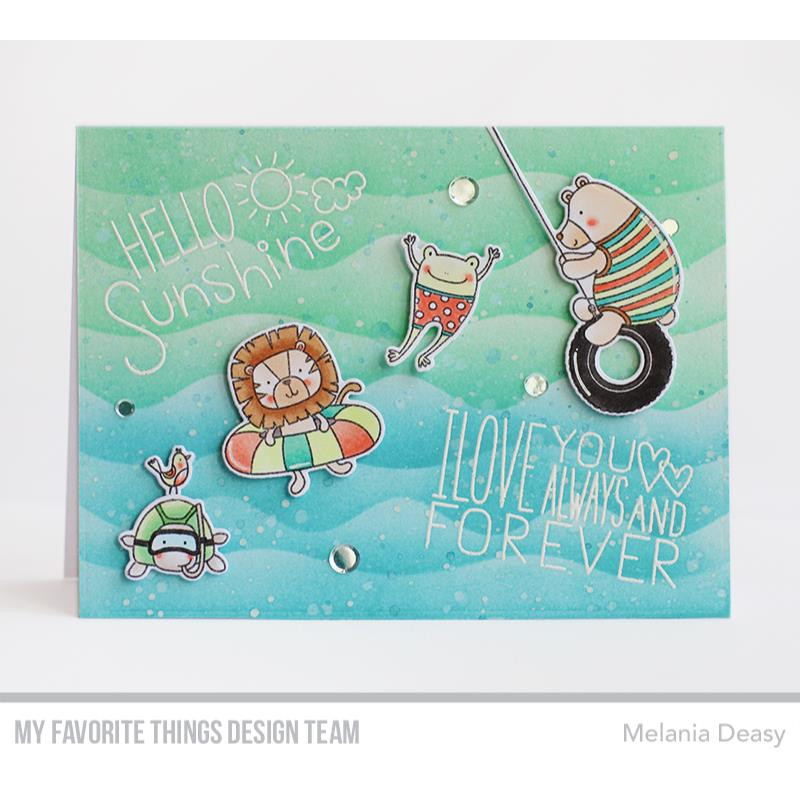 Summer Waves by Miss Tiina, My Favorite Things Stencils -