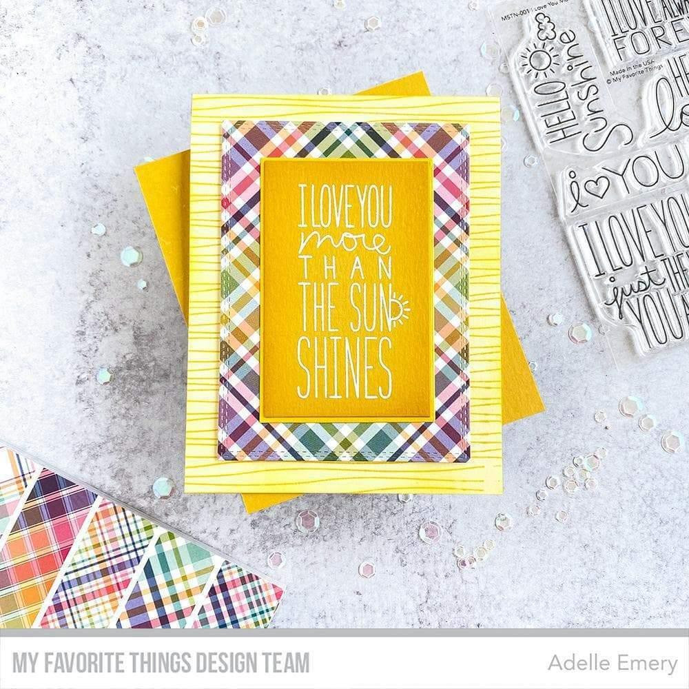Rainbow Plaid by Miss Tiina, My Favorite Things Paper Pack -