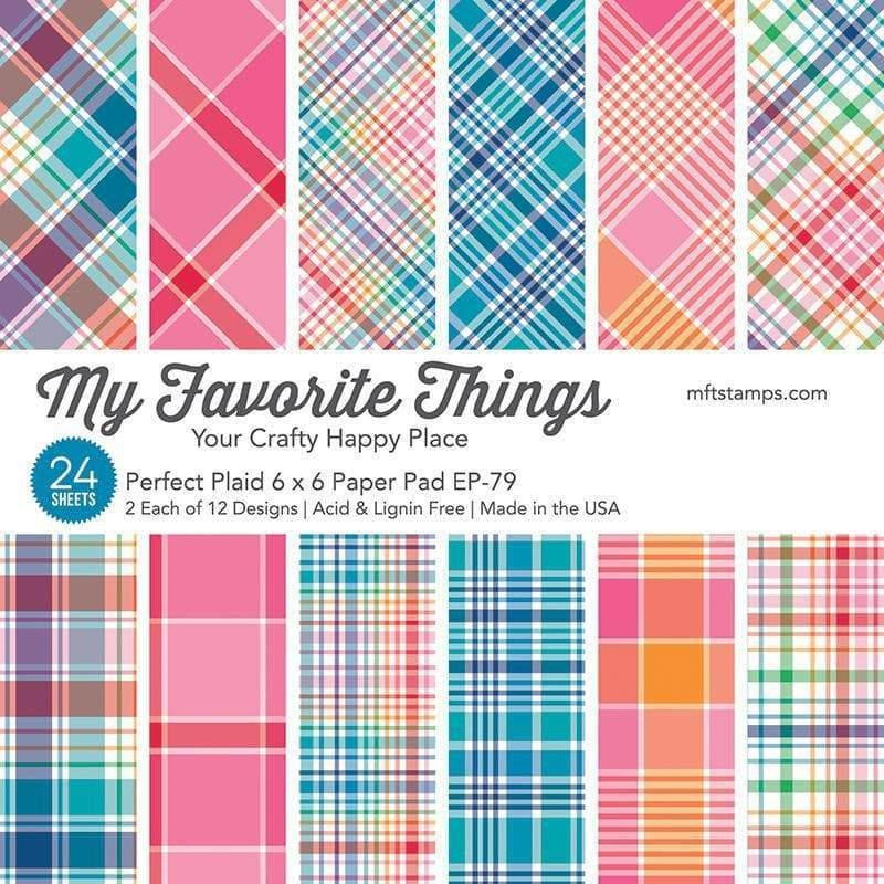 Perfect Plaid by Miss Tiina, My Favorite Things Paper Pack -