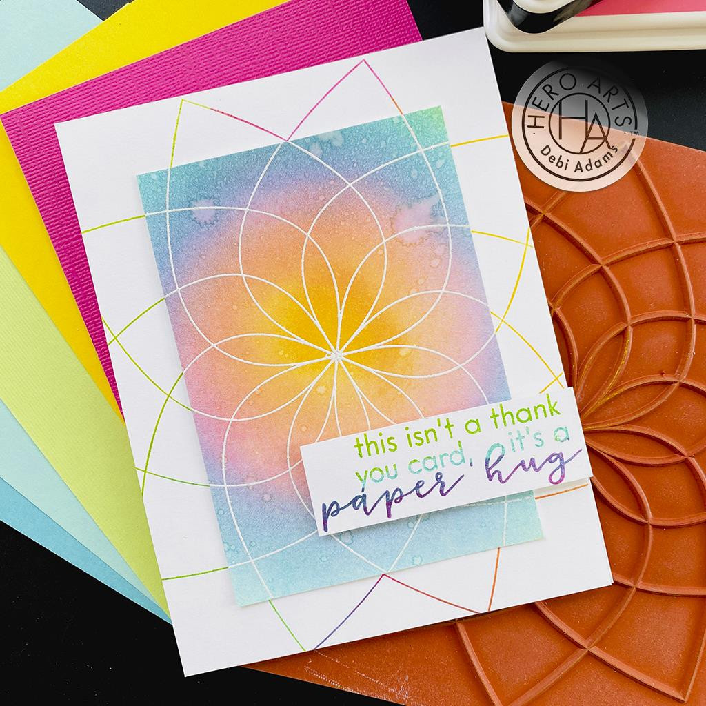 Floral Color Wheel Bold Prints, Hero Arts Cling Stamps -