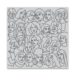 United People Bold Prints, Hero Arts Cling Stamps -