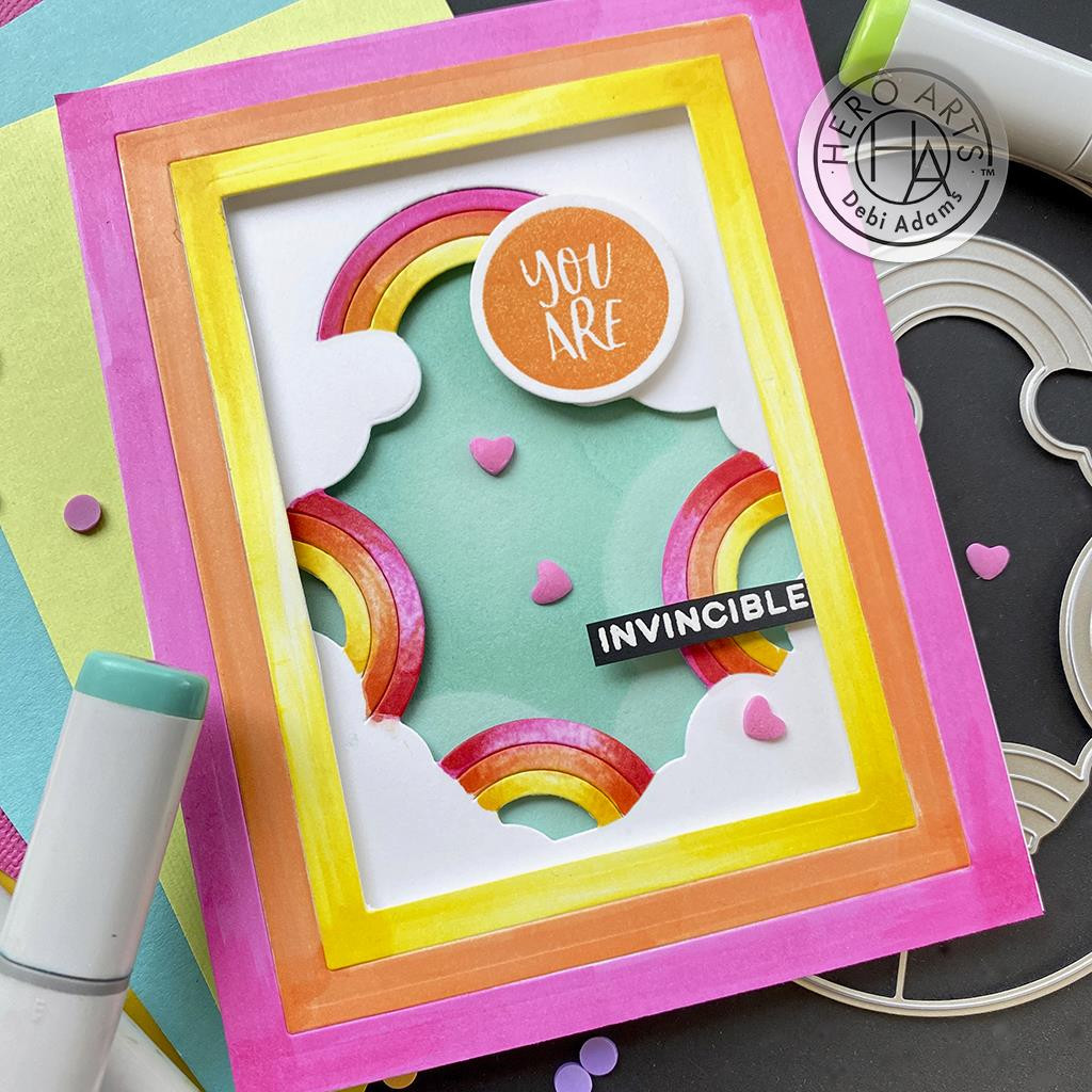 Color Me Words, Hero Arts Clear Stamps -