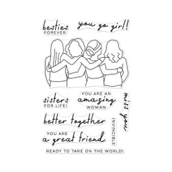 Better Together, Hero Arts Clear Stamps -