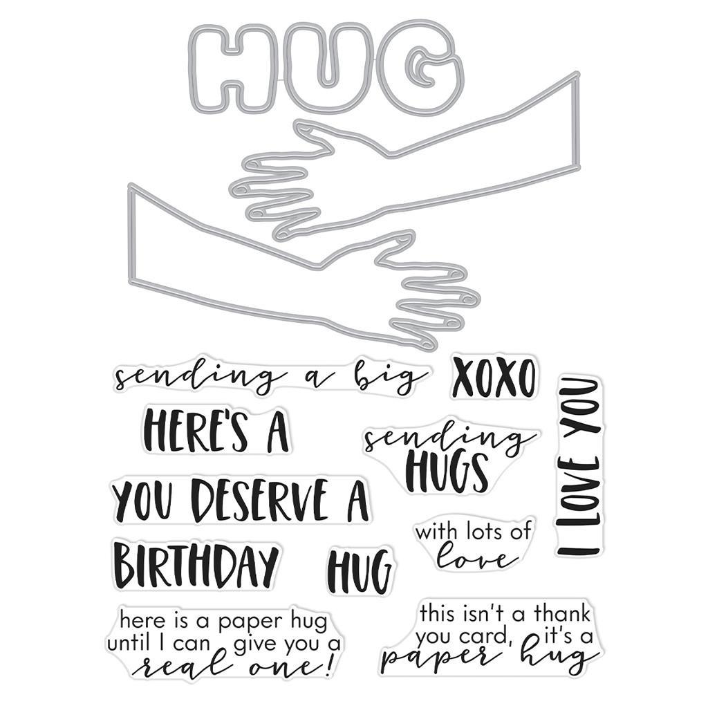Paper Hug, Hero Arts Stamp & Cut -