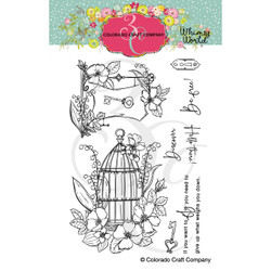 Be Free!, Colorado Craft Company Clear Stamps -